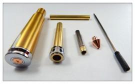 .50 Caliber Pen Kit Set - 1 of Each Chrome/Gold/Gunmetal