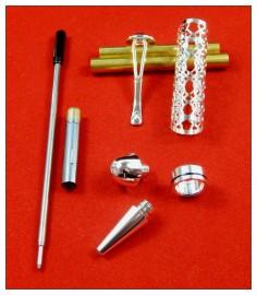European Filigree Pen Kit - Silver Plated