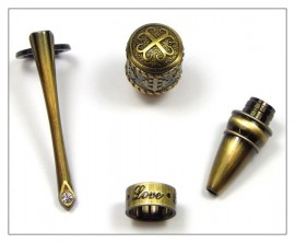 "Gospel Pen - ""Faith"" ""Love"" ""Hope"" - Antique Bronze"