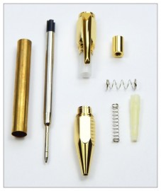 Hexagonal Click Pen - Gold