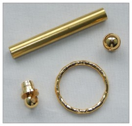 Keyring Kits x 5 - Gold Plated
