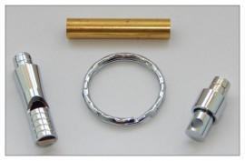 Keyring Whistle Kits x 3 - Chrome Plated