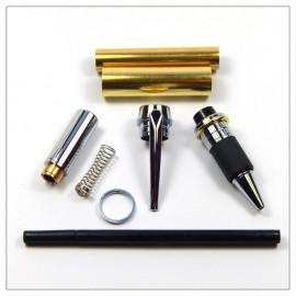 Lg Jnr Gentleman Rollerbal Pen Kit - Chrome