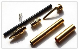 Magnetic Graduate Rollerball Pen - Gold