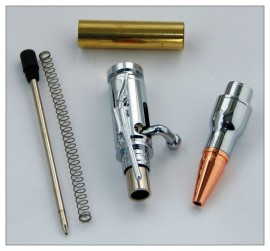 Mini Bolt Action Pen Kit - Chrome Plated