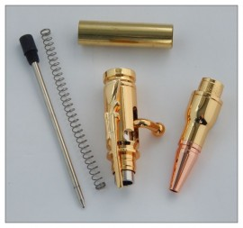 Mini Bolt Action Pen Kit - Gold Plated