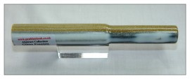 "Glitter Fountain - White/Gold/Silver Rod - 6"" x 20mm Abstract Series"