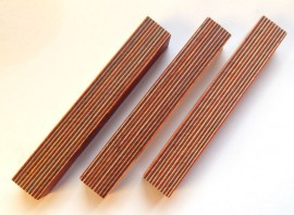 Straight Line Rainbow Wood Blank