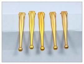 Fancy Slimline Pen Clips x 5 - Satin Gold