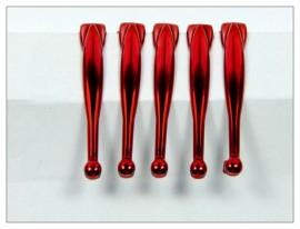 Fancy Slimline Pen Clips x 5 - Shiny Red