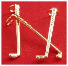 7mm Gold Pen Clips x 1 - Golf Club