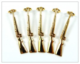 Rifle Pen Clips x 5 - Gold