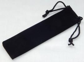 Velvet Drawstring Pen Pouches x 10 - Black