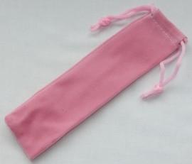Velvet Drawstring Pen Pouches x 10 - Pink