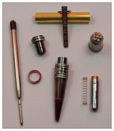 ProzX Art Deco - Antique Bronze/Gun Polish Twist Pen