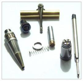 ProzX Art Deco - Antique Rose Copper/Gun Polish Twist Pen