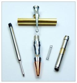 Rocket Bullet Pen Kit - Chrome