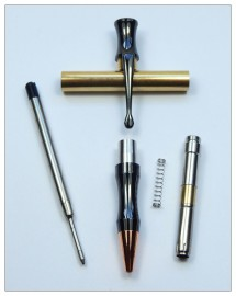 Rocket Bullet Pen Kit - Gunmetal