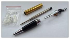 Sierra Clicker Pen Kit - Chrome with Black Chrome