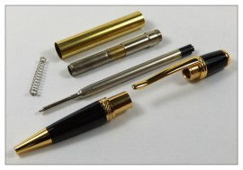 Sierra Pen Kit - Gold and Black Chrome