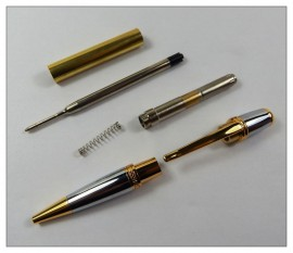 Sierra Pen Kit - Gold with Chrome