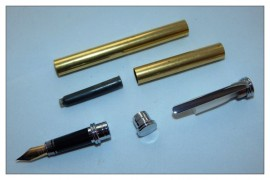 Traditional / Conservative Fountain Pen Kits - Chrome