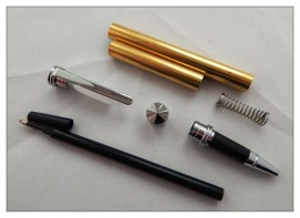 Traditional / Conservative Rollerball Pen Kits - Chrome