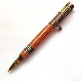 Victorian Steampunk Pen Kit - Antique Bronze Polish and Rose Copper